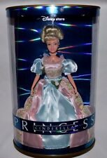 DISNEY STORE PRINCESS CINDERELLA DOLL-ROSE PINK & BLUE DRESS-LIGHT BOX W/SENSOR