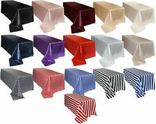 YCC Linens - Rectangular Shiny Satin Tablecloths for Weddings, Events, Home Use
