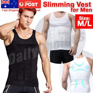 1 2 Mens Slimming Body Slim Shaper Underwear Corset Compression Belt Singlet Dad
