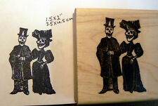 P46 Dia de los Muertos (Day of the Dead) rubber stamp wood mounted