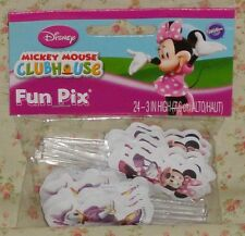 Minnie Mouse/Daisy Cupcake Fun Picks/Pix,24 ct..Wilton,Pink,2113-6364
