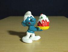 Smurfs Birthday Cake Smurf Vintage Party Figure PVC Toy Figurine Lot Peyo 20100