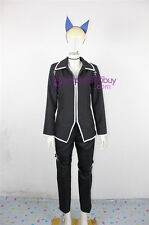 Shugo Chara Ikuto Tsukiyomi Cosplay Costume incl. headwear and tail prop