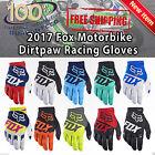 2017 Fox Racing Dirtpaw Race Mens Off Road Dirt Bike Motocross Gloves Fox Racing