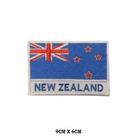 New Zealand National Flag Embroidered Patch Iron on Sew On Badge For Clothe etc
