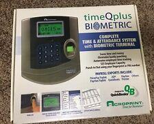 Acroprint TQ100 Biometric Time and Attendance Clock Terminal Time Q Plus