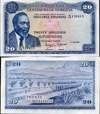 KENYA 20 SHILLINGS 1973 P 8 d UNC