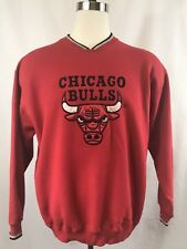 Vintage Chicago Bulls Starter NBA 1990s Vneck Sweater Size Large