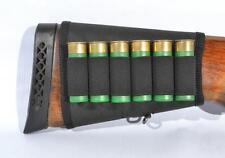 Shotgun Shell Buttstock Holder Cover Holds 6 Shells 12 Ga Hunting Cartridge New
