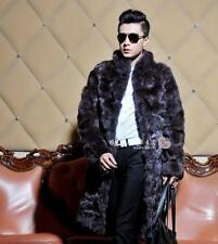Unbranded Collared Long Fur Coats & Jackets for Men