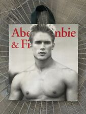 ~RARE~Vintage ABERCROMBIE&FITCH SEXY Shirtless MAN Model Store SHOPPING GIFT BAG