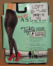 Love Your ASSETS by Sara Blakely Tights Black Flipside Diamond Size 1 NEW