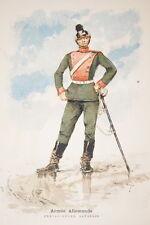 ARMEE ALLEMANDE CHEVAU LEGER BAVAROIS GRAVURE COULEURS MARIUS ROY 1890-R898