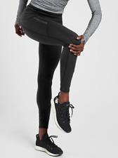 ATHLETA Rainier Tight Leggings in Plush SuperSonic LT L T | Black Winter Running