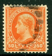 USA 1894 Jefferson 50¢ Orange Scott # 260 VFU I766 ⭐⭐⭐⭐⭐⭐