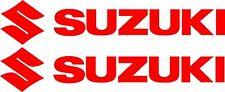 Suzuki Stickers 2 x 300 mm x 60 mm Quality Outdoor Vinyl Sticker