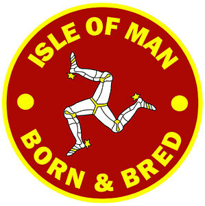 ISLE OF MAN BORN & BRED - FUN CAR TAX DISC HOLDER - BRAND NEW / FLAGS / GIFTS