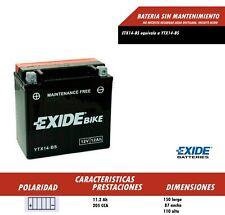 BATERIA DE MOTO EXIDE YTX14-BS (Ref Exide ETX14-BS) ENVIO GRATIS 24H BMW Y OTROS