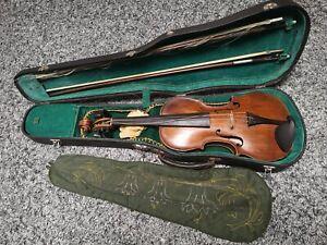 Alte  4/4 Geige, Violine 2 Bogen + Zubehör und Koffer abschließbar