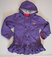 Purple Ruffle Coat Naartjie Jacket Patches Warm Girls sz XXL 8 yrs Fall Winter
