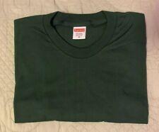 Supreme Blank Tee Dark Green Size Medium Short Sleeve