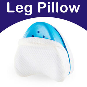 LEG PILLOW MEMORY FOAM CONTOUR Orthopaedic Pillow Back Hips Knee Support Cover
