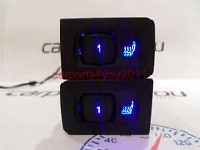 VW GOLF MK4 / BORA BLUE LED HEATED SEAT SWITCHES X2 (PAIR) + FREE UK POSTAGE