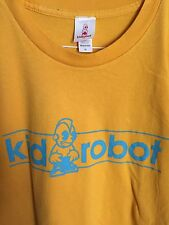 Kidrobot USA NYC toy2r Vintage T-shirt original RARE MADE IN USA SIZE XL Yellow
