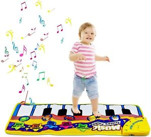 Musical Piano Playmat with Sounds Dance Toy Soft Keyboard Mat Baby Toddlers Kids