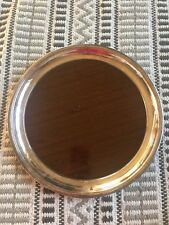 Crescent Tray Woodgrain Formica Silverplate Usa Serving Tray Vintage Post Mode