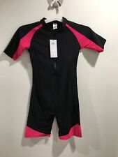 Short Sleeve One Piece Wetsuit Surfing Swimming Sucba Diving Skin Swimsuit XL