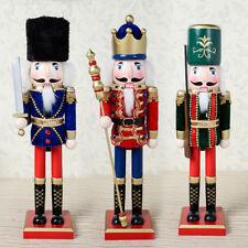 3 stücke 38 cm Holz Nussknacker Figur Weihnachtsschmuck Dekoration Puppen