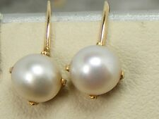 Earrings Antique Cultured Pearl 10k Solid Yellow Gold Screw Back Clip on