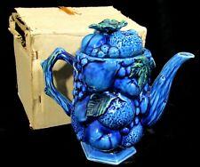 IOB Unused Inarco Mood Indigo Teapot - Original Sticker - E 3430