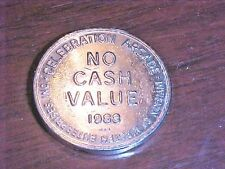 "Silver Colored Token from Celebration Arcade, Oakland, NJ  1988 ""No Cash Value"""
