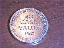 "Silver Colored Token from Celebration Arcade, Oakland, Nj 1988 ""No Cash Value"""