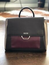 Kenneth Cole Reaction Concord Backpack Handbag Brown Tan Burgandy $109 NEW