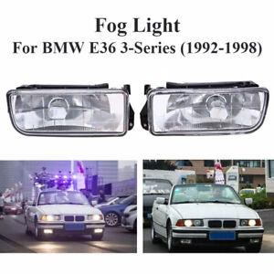 2pcs/Set Car Front Fog Lights For BMW E36 M3 3-Series 318i 1992-1998 Bumper Lamp