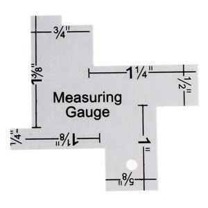 Precision Seam Measuring Gauge Metal Tailor Ruler Template Sewing Ru JD