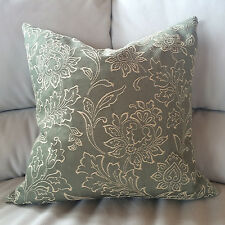 "FLORAL EMBROIDERY Quality DESIGNER Jacquard 16""x16"" Throw Pillow Case Cover"