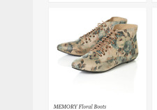 TOPSHOP VINTAGE MEMORY FLORAL PRINT OXFORD BOOTS ANKLE BOOTIES PIXI 3 36 LEATHER