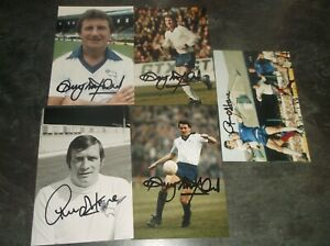 Signed Derby County Player Photographs x 5