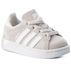 adidas Campus EL Infants Sizes 4-8.5 Grey RRP £35 Brand New BY9559 CLASSICS