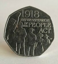 50p Coin 2018 Representation Of The People Act 1918