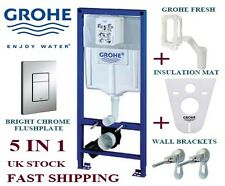 GROHE SL 5IN1 WALL HUNG TOILET FRAME SKATE CHROME PLATE+ BRACKETS+ MAT+ FRESH