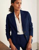 Boden - Smyth Ponte Blazer - Damen Jacket Elegant Navy - NEU - UK 12 EU 40