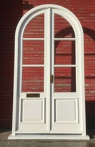 Solid Hardwood Arched French Doors, Bespoke! Made to measure!