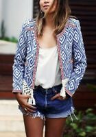 Ethnic Boho Boxy Cotton Jacket By Mango Sz S