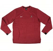 New Nike Alabama Crimson Tide Long Sleeve Modern Top Sweater Men's L Red 908358