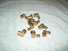 "(Lot of 10)  1/8"" NPT Street 90 Degree Elbow Brass Fitting FNPT MNPT"